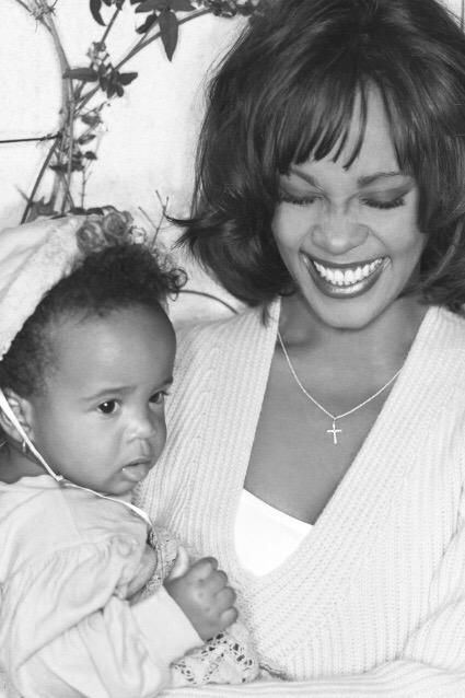 Whitney Houston and her daughter, Bobbi Kristina Brown.