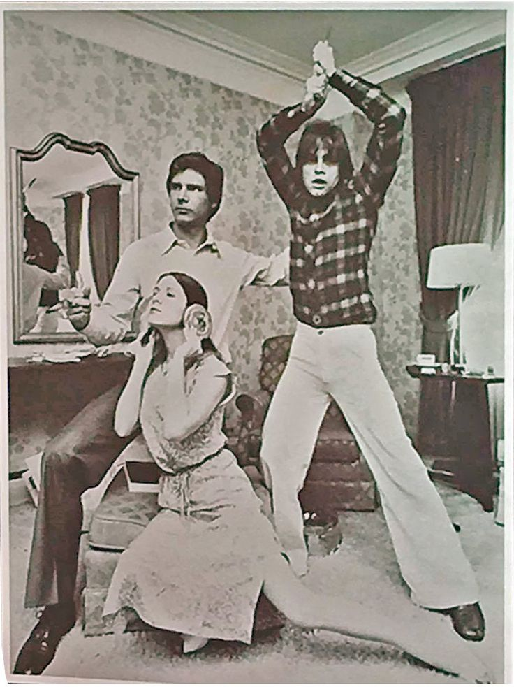 Carrie Fisher, Harrison Ford & Mark Hamill.