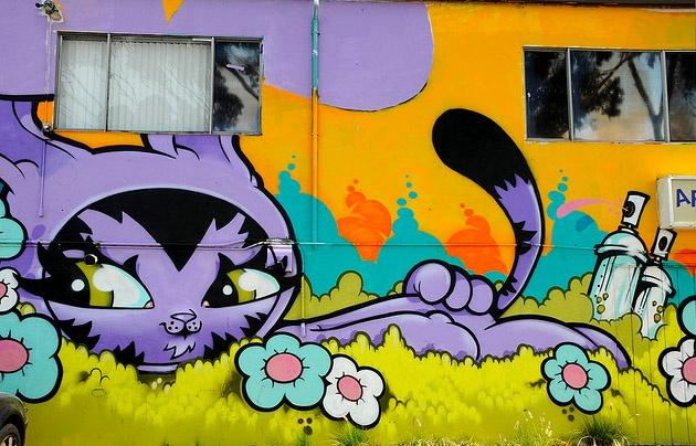 Cool Kitty Graffiti: Cool Cats, Kitty Graffiti, Kočki Street, Street Art, Cat Street, Graffiti Obsession, Cat Graffiti, Streetart, Graffiti Everywh