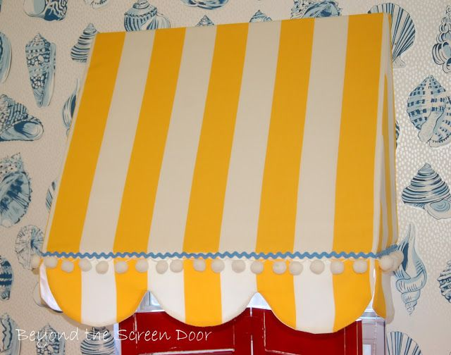 Cabana Style Awning for the Laundry Room | Beyond the Screen Door