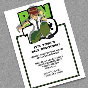 Ben 10 Birthday Party Invitation FREE download :)