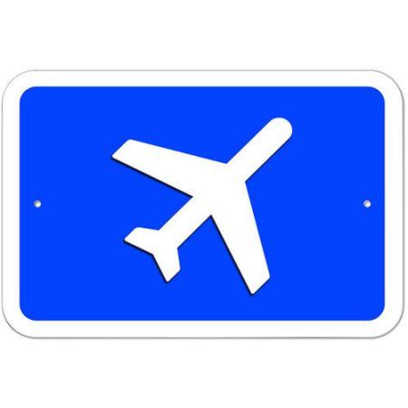 Airplane Airport Sign, Size: 12 inch x 18 inch