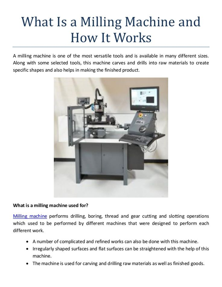What Is A Milling Machine And How It Works