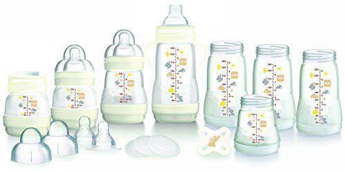MAM Anti-Colic Self-Sterilising Bottle Starter Set (White)