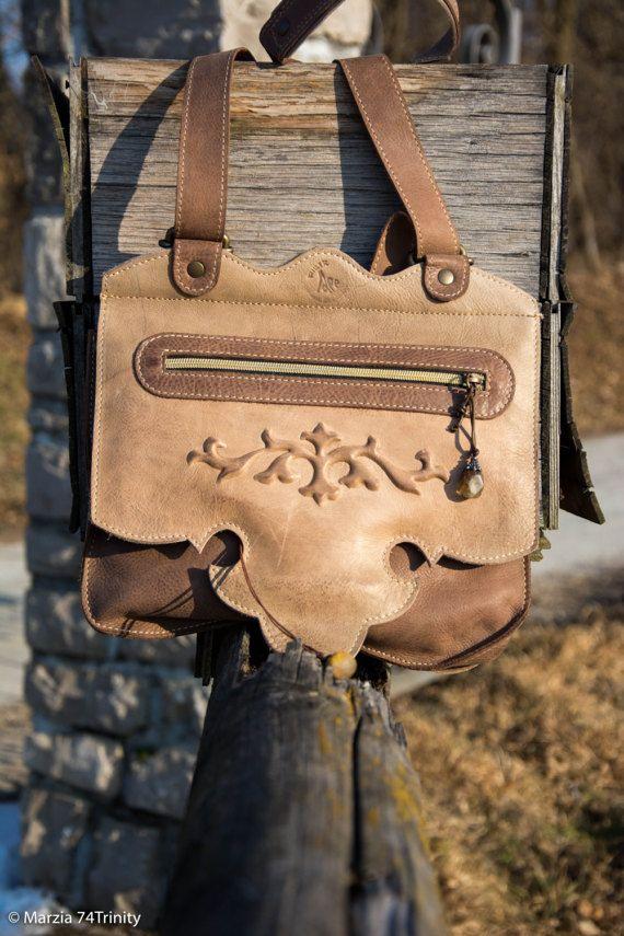 Borsa pelle artigianale handmade borsa tracolla stile di AlePiller