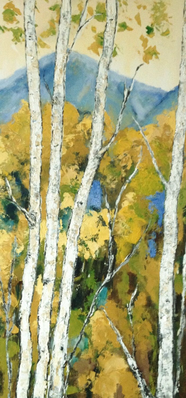 135 best Birch Aspen Tree Paintings images on Pinterest | Etsy ...