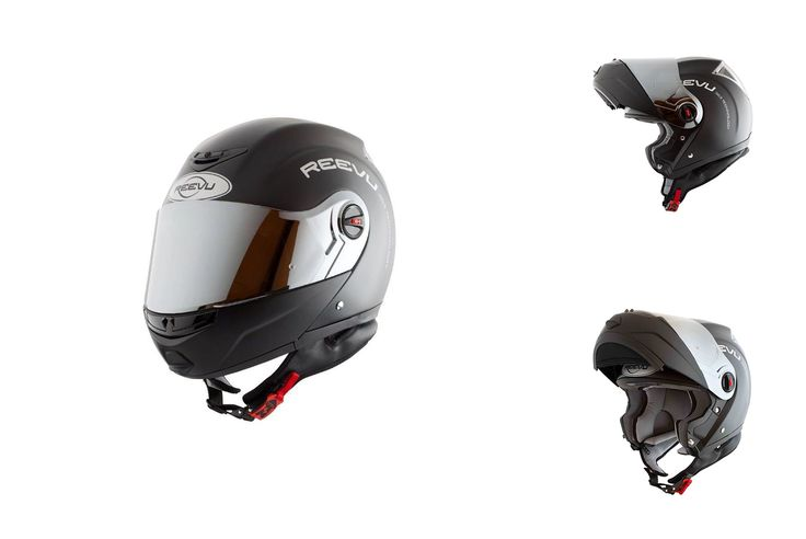 Casque moto fibre de carbone REEVU FSX1 (Noir)