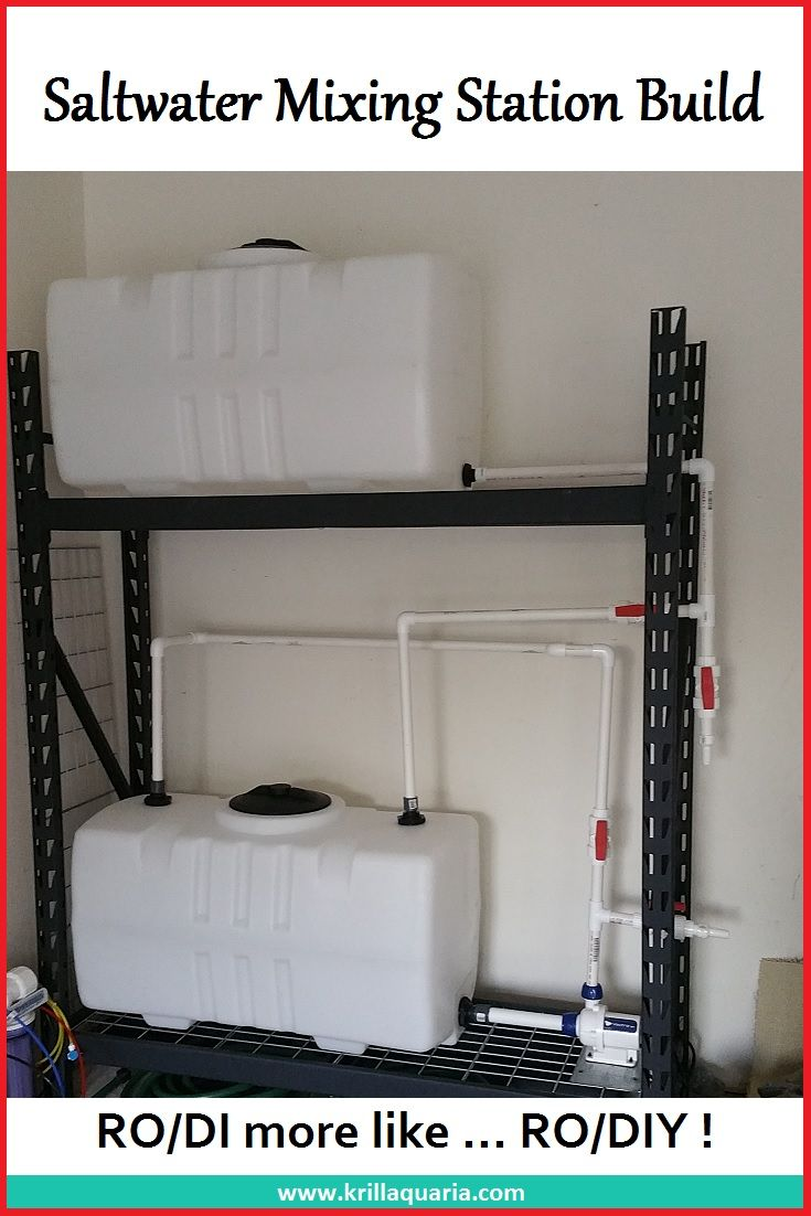 Looking to build a RO/DI and Saltwater Mixing Station for your Saltwater Aquarium? Check out ours!