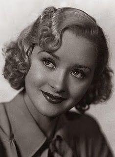 Elaine: Marion Marsh with classic 1930's hair style