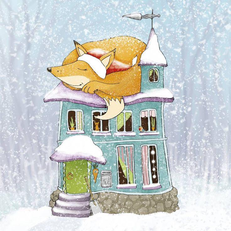 Тепло-лис. #иллюстрация #рисунок #illustration #drawing #topcreator #thecarrotparrot #лисичка #лисенок #арты_с_лисами #лис #лиса #fox #foxes #зима #дом #уютно