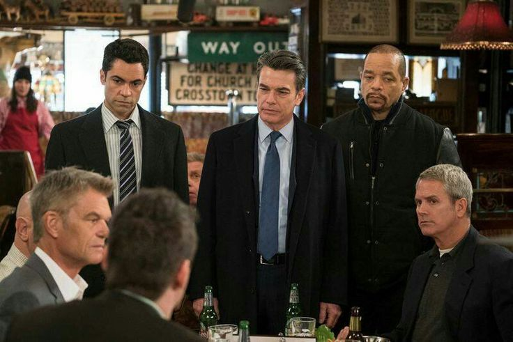 Danny Pino, Peter Gallagher, Ice-T and Harry Hamlin in  - law and order svu presumed guilty