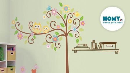 #Homy #Deco #Repisa #buhos #árbol