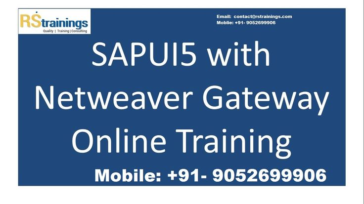 RS Trainings ranks as one of the best training institute in Hyderabad for online trainings for SAPUI5. We have expertise and real time professionals working in SAPUI5 technology since 3-4 years..Our training strategy and materials will help the students for the certification exams also. For further details please drop an enquiry to Email : contact@rstrainings.com or contact directly on 91-905-269-9906 / 001-909-666-5386 or on Skype : rsonlinehyd