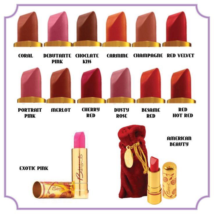 LIPSTICK De lippenstiften van Bésame zijn wat een perfecte lippenstift moet zijn. Een collectie van klassieke, intense, glamourkleuren geïnspireerd door klassieke Hollywood beauty's!  De lippenstiften zijn gemaakt van de hoogst natuurlijke pigmenten, vitamine C en Aloë Vera. De lipstick geeft een volledige dekking met een semi-matte finish voor onweerstaanbare, gladde lippen! Empower yourself!