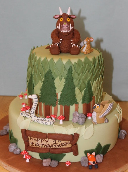 Gruffalo and friends 1st Birthday Cake by Cake Creations By Hannah