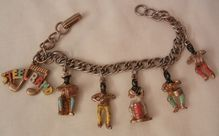 Happy New Year! Many items sale priced with 20 to 60% off     Rare Vintage Blackamoor calypso steel band drummers Charm Bracelet