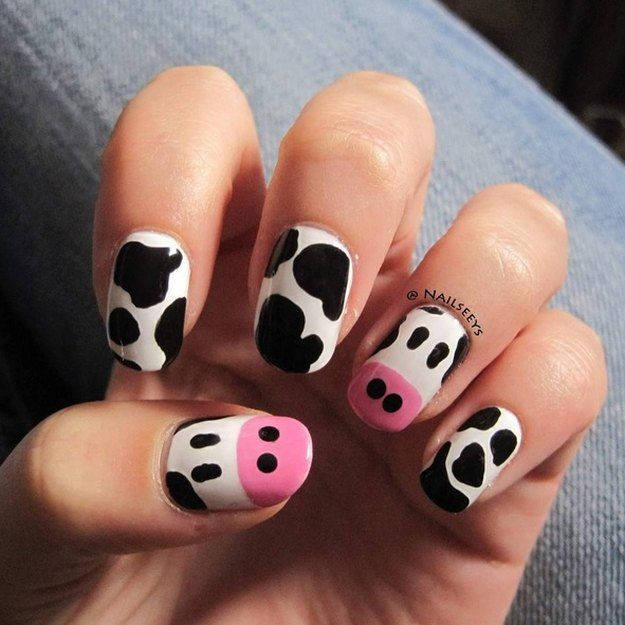 farm animal nails ideas