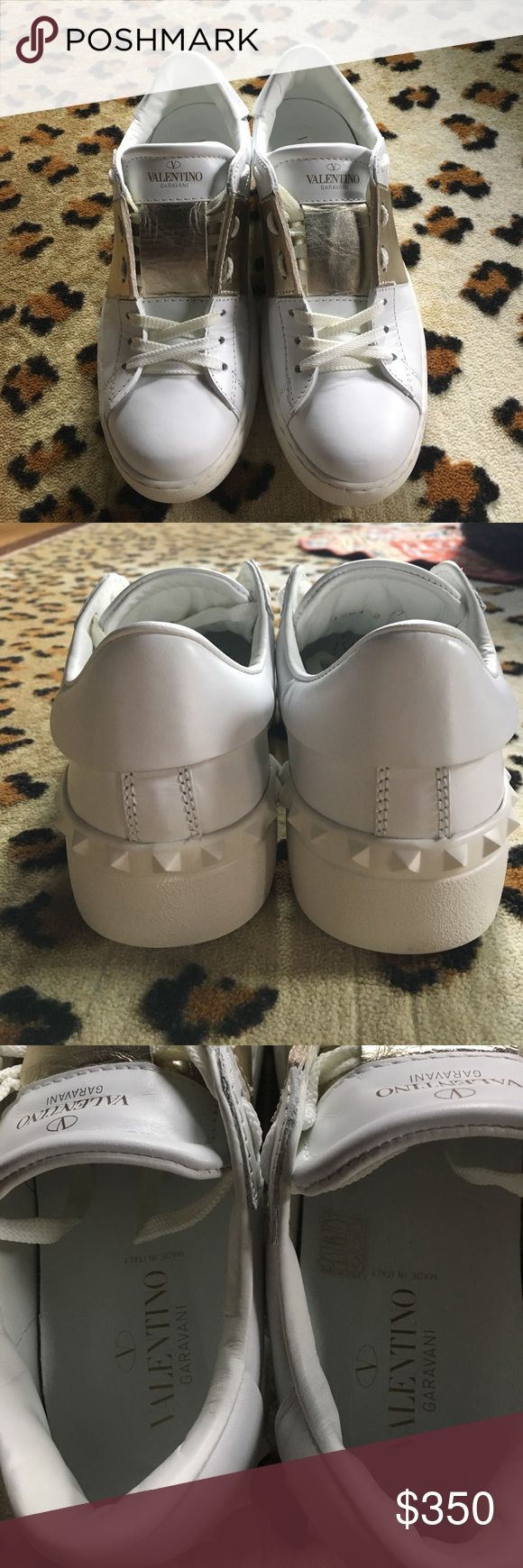 Metallic Band Valentino Sneaker 37 Size 37 Authentic Valentino Sneaker. EUC I do not have box or dust bags. Purchased from Neiman Marcus online but they are too small. Valentino Garavani Shoes Sneakers