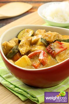 Thai Massaman Curry. #RiceRecipes #DietRecipes #WeightLoss #WeightlossRecipes weightloss.com.au