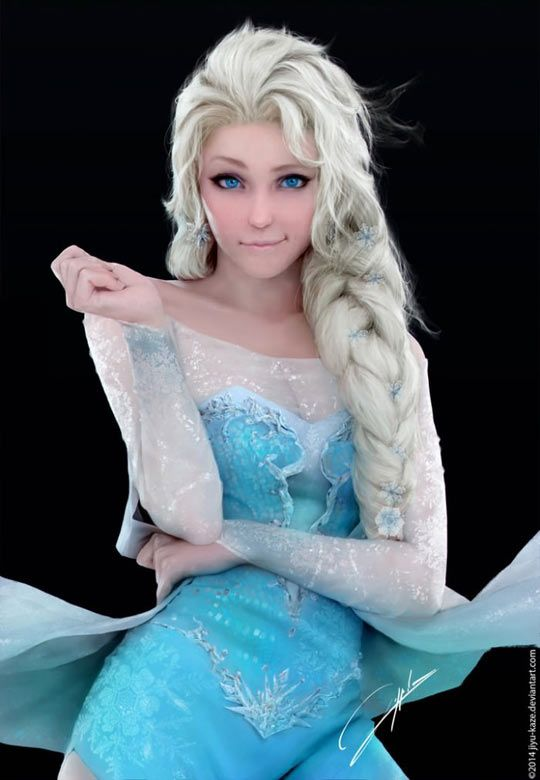 Best Frozen cosplay ever? Can't decide if this is more amazing as a cosplay or as a drawing.