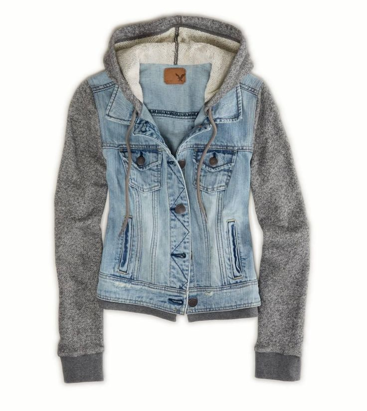 jean jacket. American Eagle. I love this jacket especially the sleevse who likes the scratchy feeling on the arms