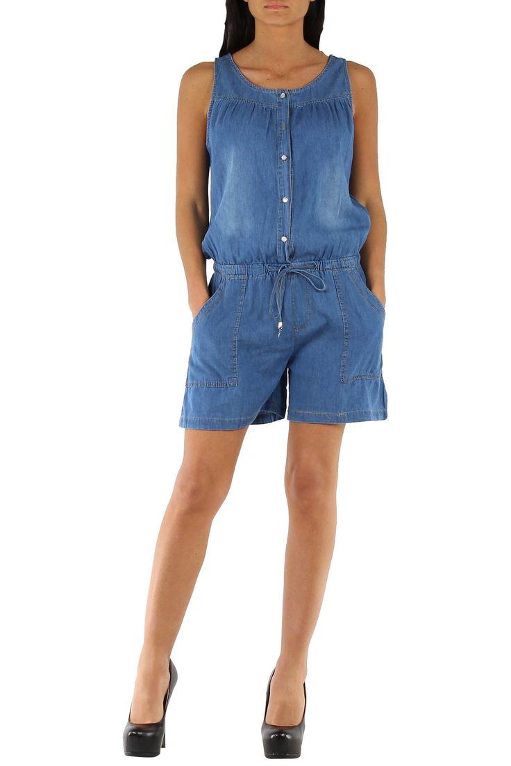 Mono Denim shorts con tirantes y cinturilla Condición:  Nuevo Composición 95% algodón, 2% elastano, 3% Polyester Categoría Mono vaquero, peto vaquero, shorts denim, jeans Paquetes 10 piezas Los detalles del paquete Los paquetes de color Tamaño : S, M, L, XL De color Azul Vaquero, Denim, Jeans  Mayorista de ropa Denim al por mayor: http://intueriecommerce.com/es/