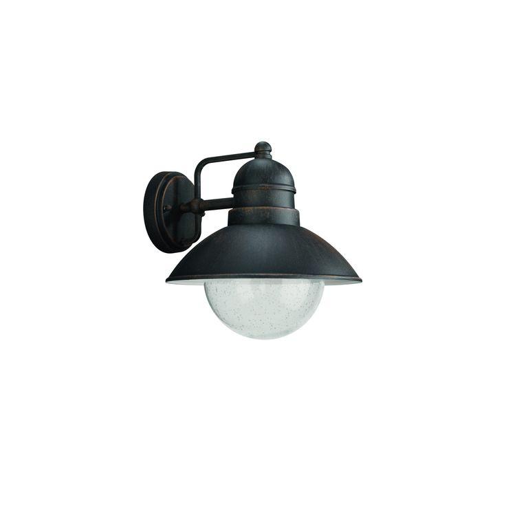 Massive wandlamp Damascus geschikt voor E27 60W bruin