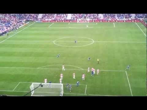 Euro 2012. Italy-Croatia. Andrea Pirlo free kick.