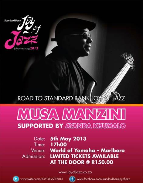 Musa Manzini at World of Yamaha, May 5th, 2013!