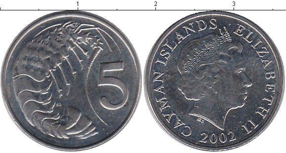Каймановы острова, 2002 год, 5 центов.