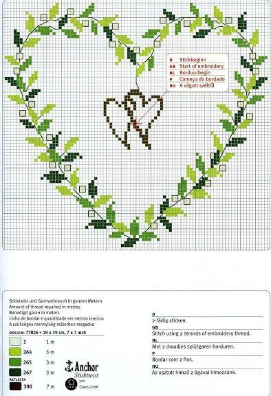 Herz grüne Blätter