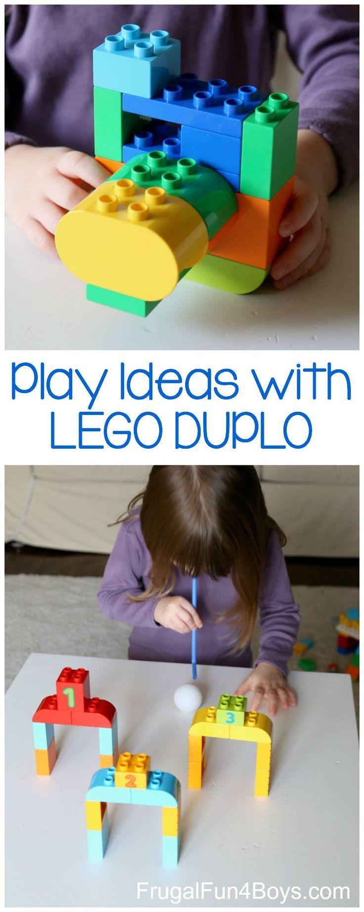 Play ideas for preschoolers with LEGO DUPLO bricks