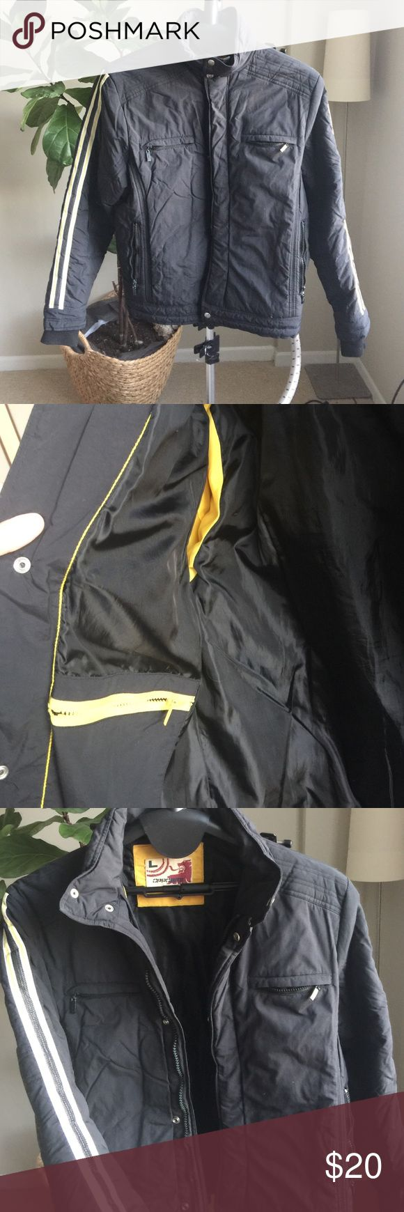 Men's Biker jacket My husband wants to Posh! This is a motto jacket he got in Chile. Very warm and wind proof. Jackets & Coats Puffers