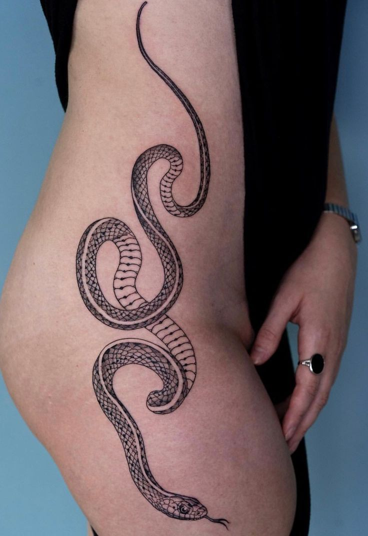 Sol Tattoo Hip Snake Illusionary Character With Images Hip