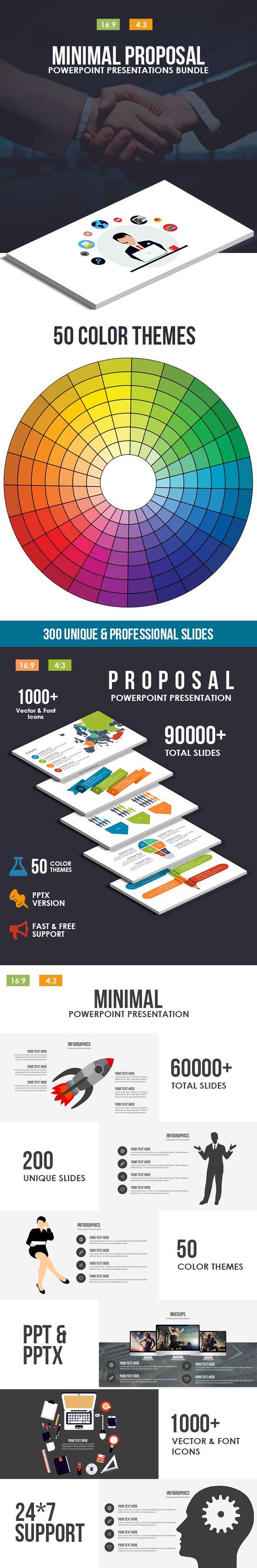 Minimal Proposal Powerpoint Template Bundle