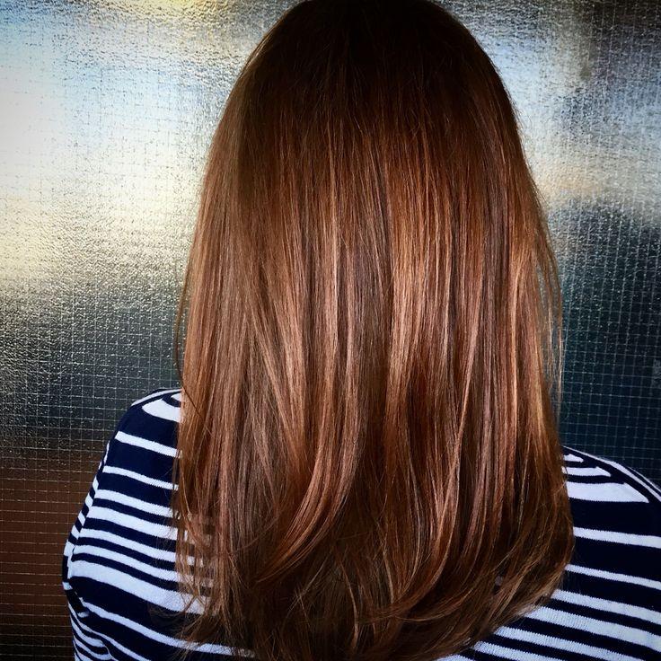 Caramel brown hair & olaplex treatment #olaplex #copperhair #brownhair #ecaille