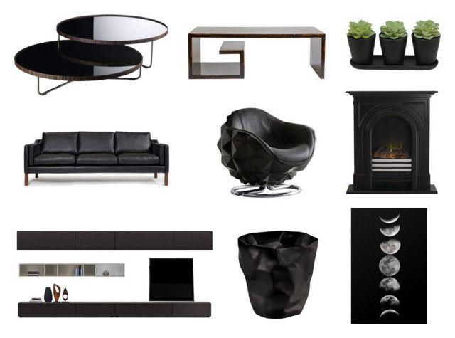 """The new black"" by ricardo-rodriguez-hernandez on Polyvore featuring interior, interiors, interior design, hogar, home decor, interior decorating, Andrew Martin, Rove Concepts, Modloft y BoConcept"