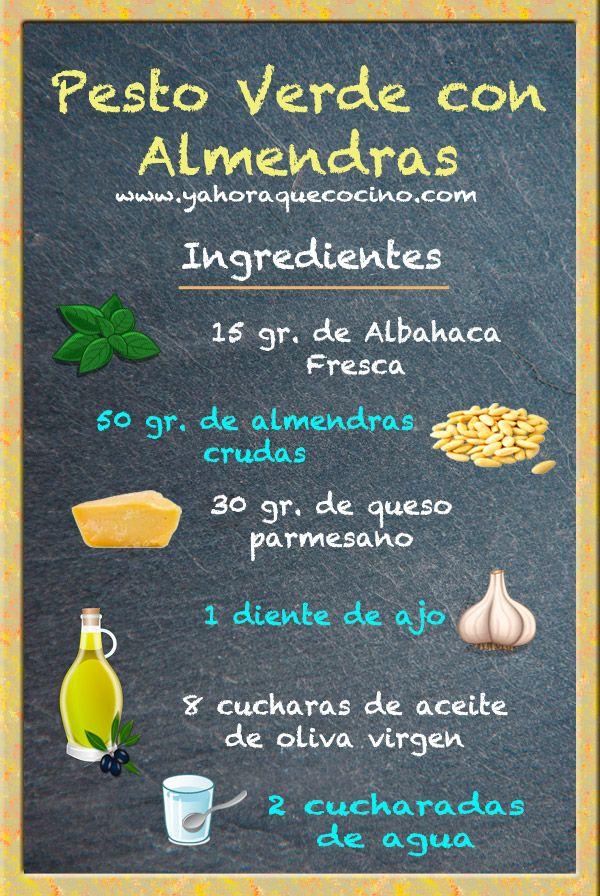 Salsa Pesto con almendras #receta