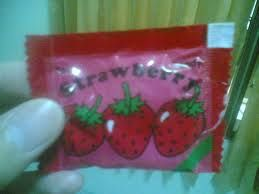Permen strawberry #jajanan #80an