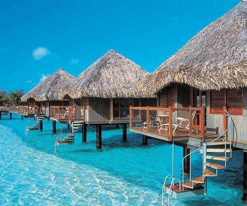 "bahamas tiki huts   Bahamastar"": Above water Bungalows Resort in the Caribbean (Bora ..."