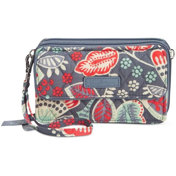 Vera Bradley All in One iPhone 6 Plus Crossbody Wristlet ($54) ❤ liked on Polyvore featuring accessories, tech accessories, nomadic floral, cell phone wristlets, iphone wristlet, vera bradley wristlet, vera bradley and floral wristlet