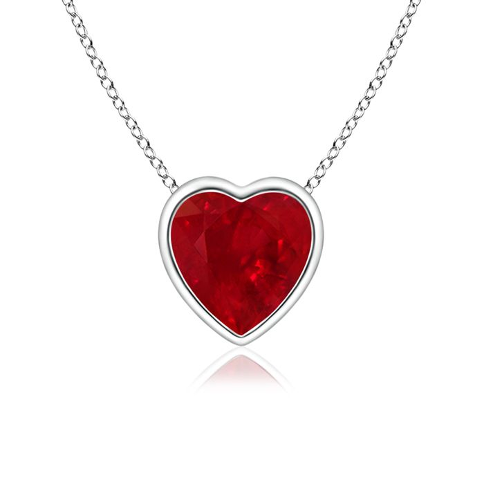 Ruby Heart Necklace - Simply gorgeous!  It comes in yellow gold also...