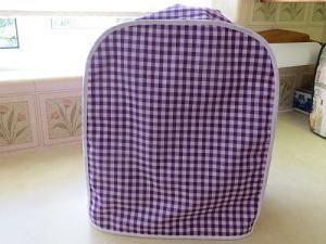 Magimix Cover Purple White Gongham Cotton