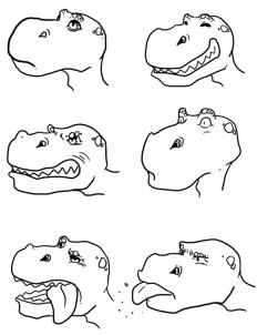 how to draw cute dinosaurs, cute dinosaurs step 4