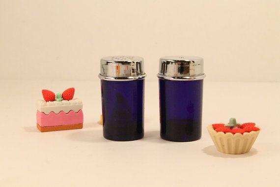 Salt and Pepper Shakers Glass Salt & Pepper by ClockworkRummage, $7.00