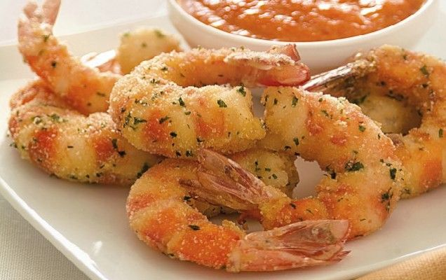 Γαρίδες πανέ με σάλτσα ντομάτας - iCookGreek