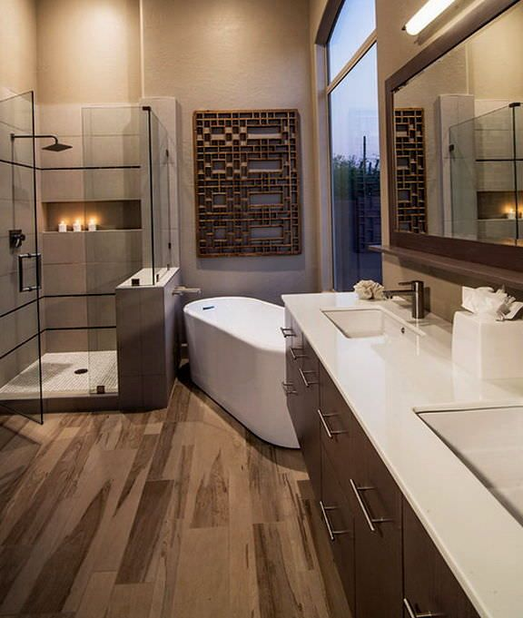 Best 25 laminate flooring for bathrooms ideas on - Laminate tiles for bathroom walls ...