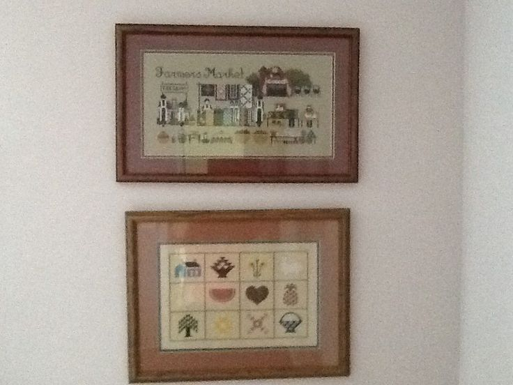 FARMERS MARKET AND 12 SQUARE CROSS STITCH