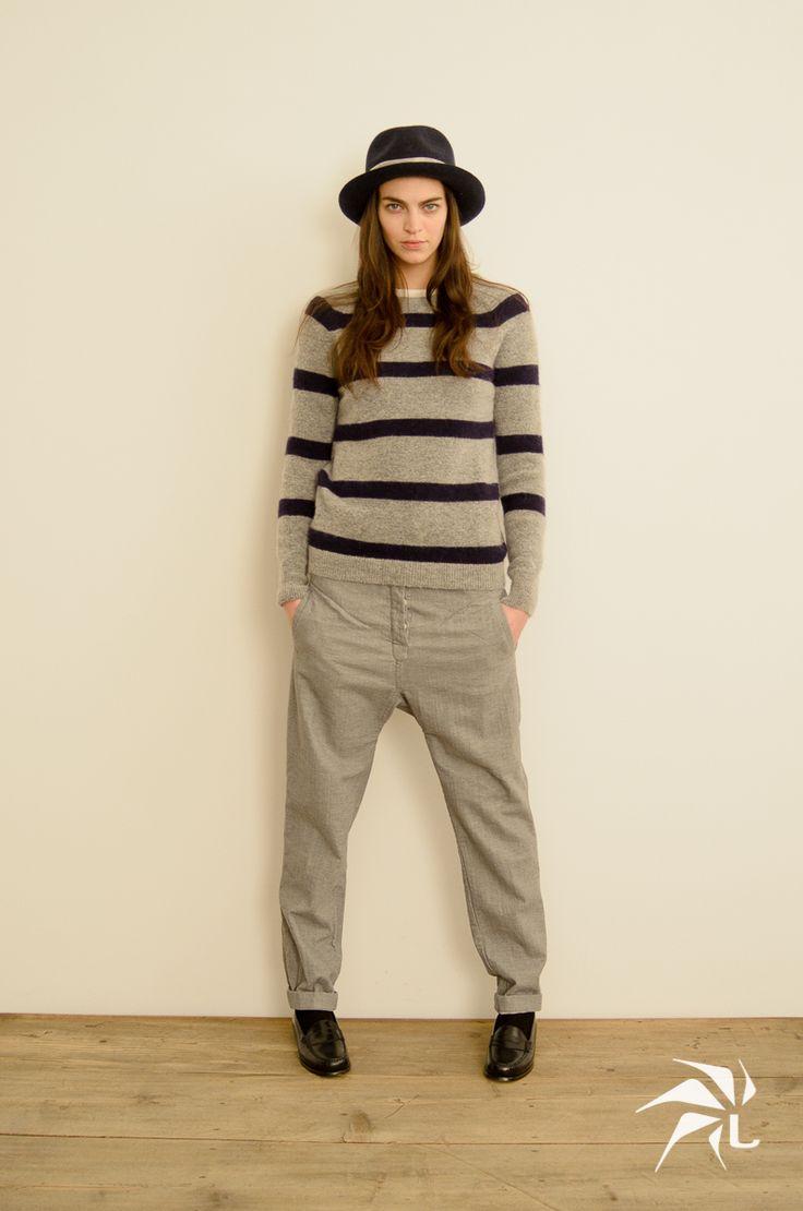 Elga Sweater Stripe. Goa Pants.