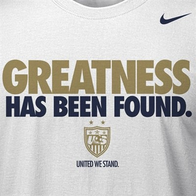 Nike U.S. Women's Soccer 2012 Olympics Victory T-Shirt - White  Special Event Item More Info